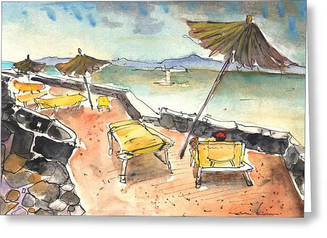 Playa Blanca Greeting Cards - Playa Blanca in Lanzarote 03 Greeting Card by Miki De Goodaboom