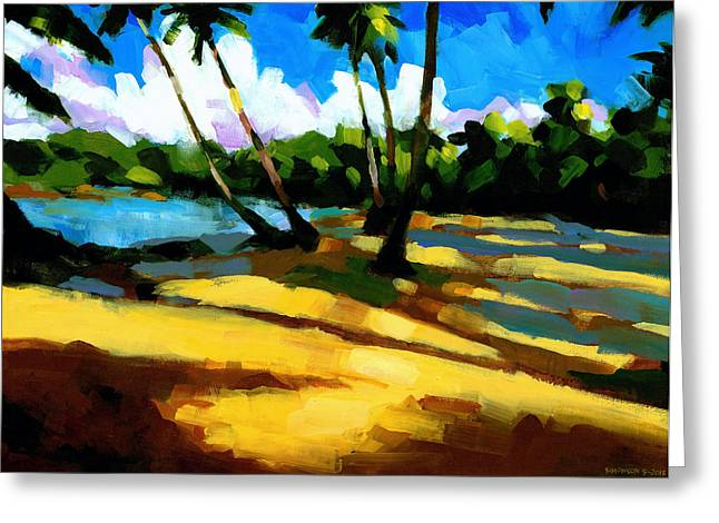 Tropical Trees Greeting Cards - Playa Bonita 2 Greeting Card by Douglas Simonson