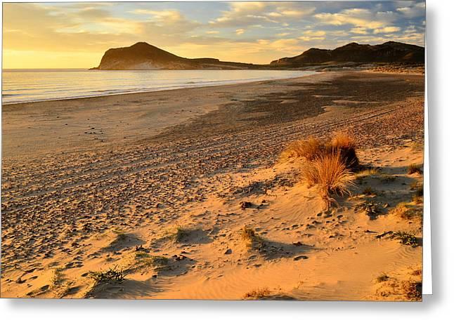 Sea View Greeting Cards - Playa de los Genoveses Greeting Card by Marek Stepan