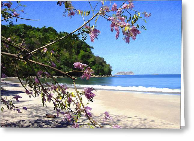 Costa Digital Greeting Cards - Playa Espadillia Sur Manuel Antonio National Park Costa Rica Greeting Card by Kurt Van Wagner