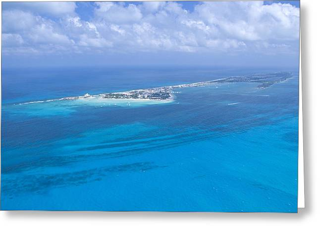 Isla Mujeres Greeting Cards - Playa Norte And The Hotel Zone,isla Greeting Card by Victor Elias