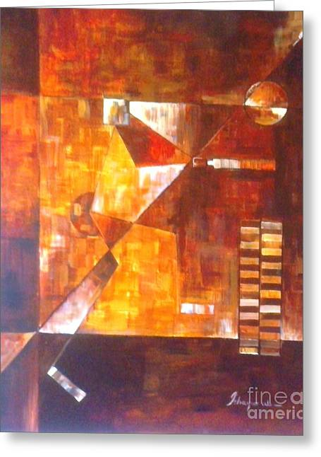Cricket Paintings Greeting Cards - Player Greeting Card by  ishaque ali Sayyed