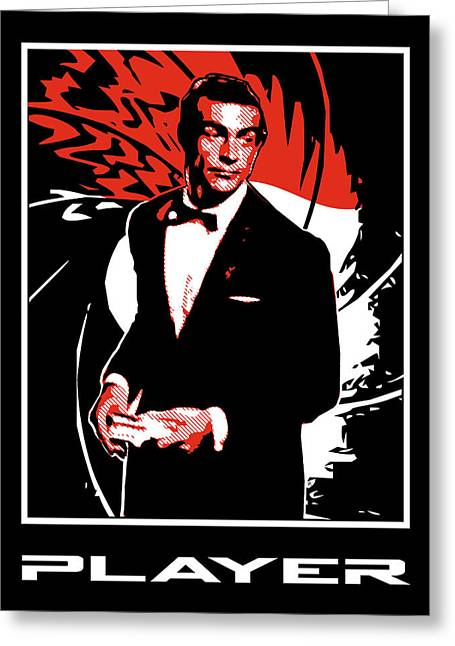 Secret Agent Greeting Cards - Player Greeting Card by Lance Vaughn