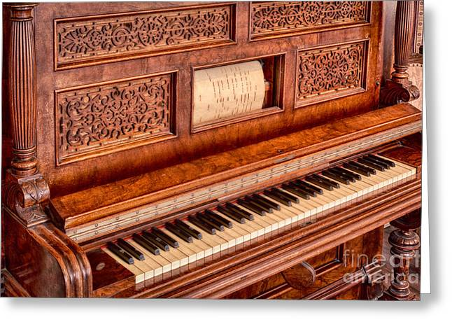 Pioneer Park Greeting Cards - Player Piano Greeting Card by Inge Johnsson