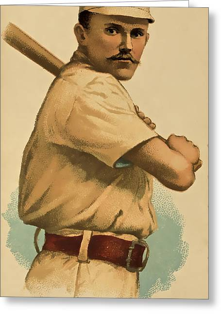 Baseball Memorabilia Greeting Cards - Players League Greeting Card by David Letts