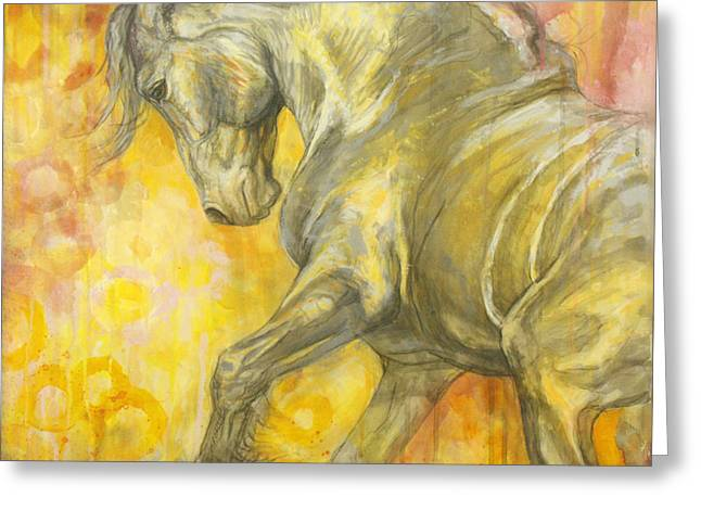 Horse Images Greeting Cards - Playful Joy Greeting Card by Silvana Gabudean