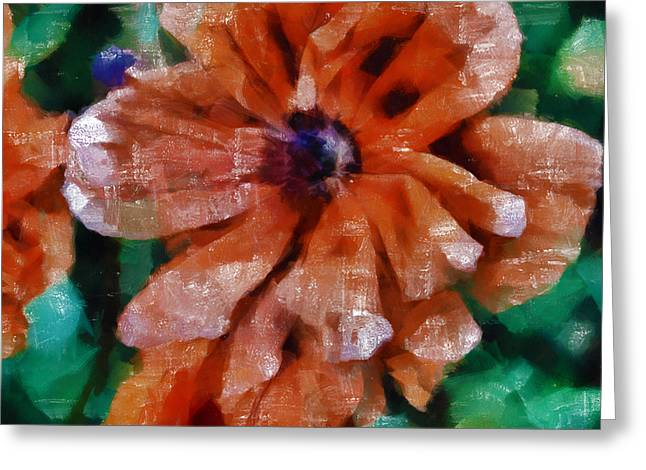 Angelinavick Greeting Cards - Playful Poppies 1 Greeting Card by Angelina Vick