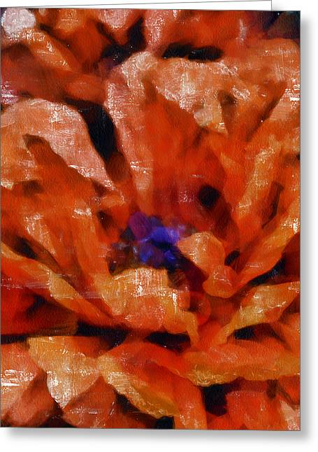 Angelinavick Greeting Cards - Playful Poppies 4 Greeting Card by Angelina Vick
