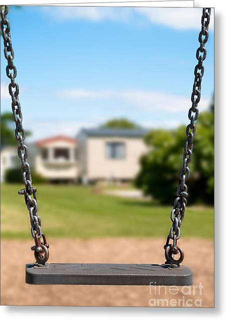 Swings Greeting Cards - Playground Swing Greeting Card by Amanda And Christopher Elwell