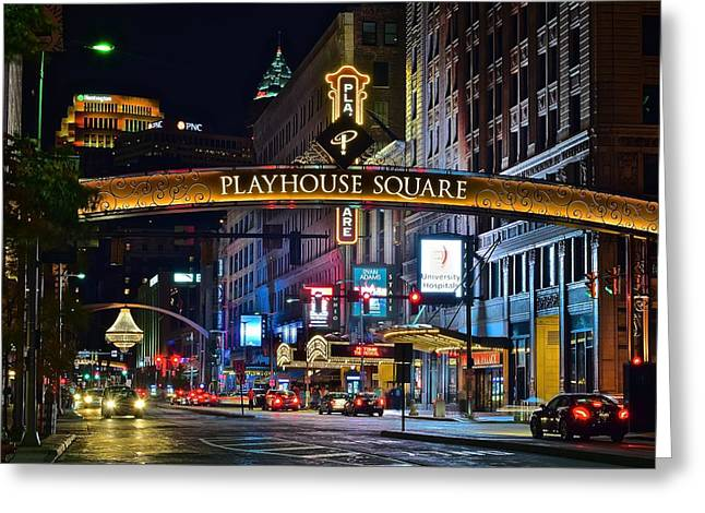 Lebron Photographs Greeting Cards - Playhouse Square Greeting Card by Frozen in Time Fine Art Photography
