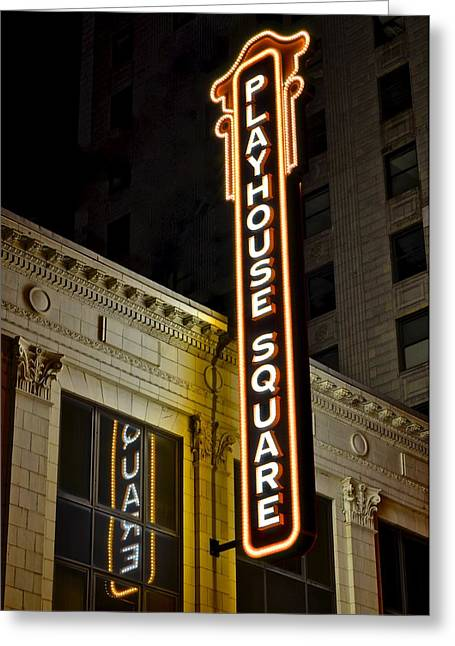 Ball Gown Greeting Cards - Playhouse Square Greeting Card by Frozen in Time Fine Art Photography