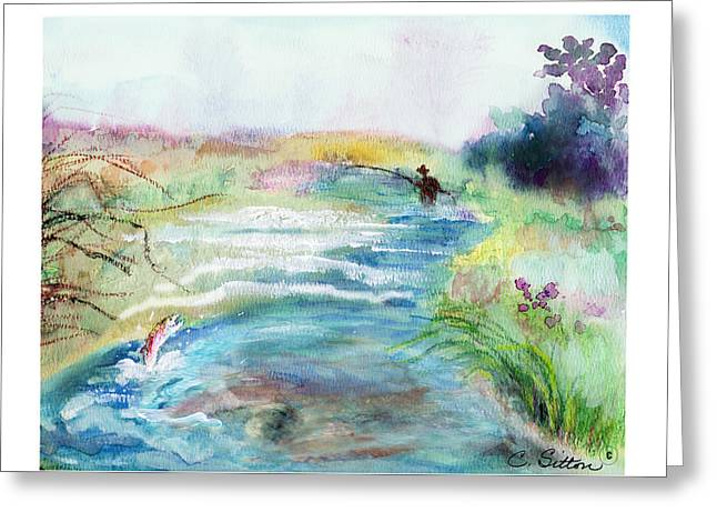 Fishing Enthusiast Greeting Cards - Playin Hooky Greeting Card by C Sitton