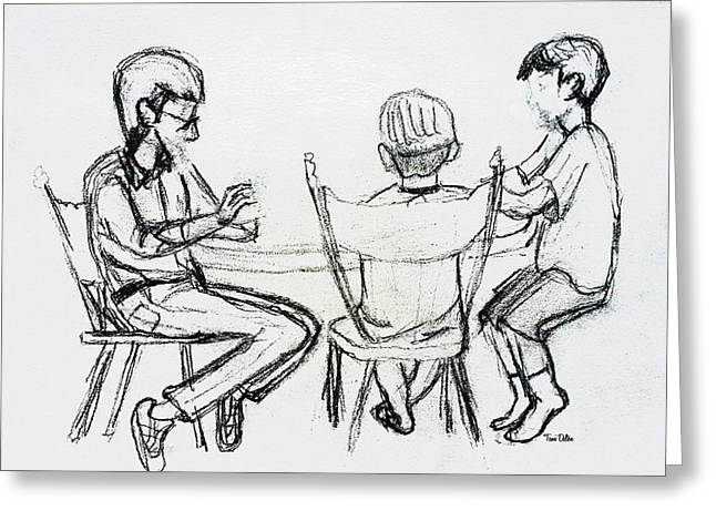 Playing Cards Drawings Greeting Cards - Playing Cards Greeting Card by Tami Dalton