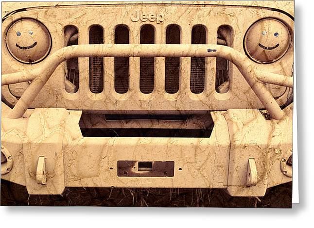 Jeeps Greeting Cards - Playing Dirty Greeting Card by Luke Moore