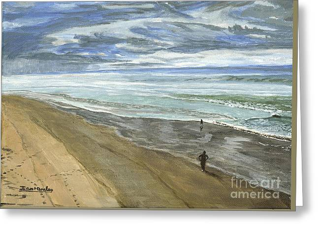 Pacific Ocean Prints Greeting Cards - Playing on the Oregon Coast Greeting Card by Ian Donley