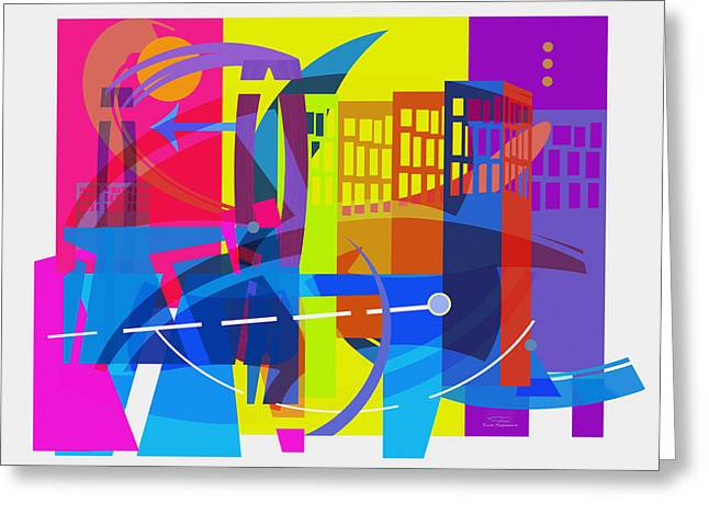 Playing Shapes City 01 Greeting Card by Joost Hogervorst