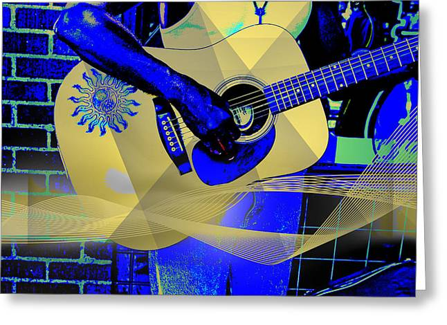 African Inspired Art Greeting Cards - Playing the Blues Greeting Card by John Haldane