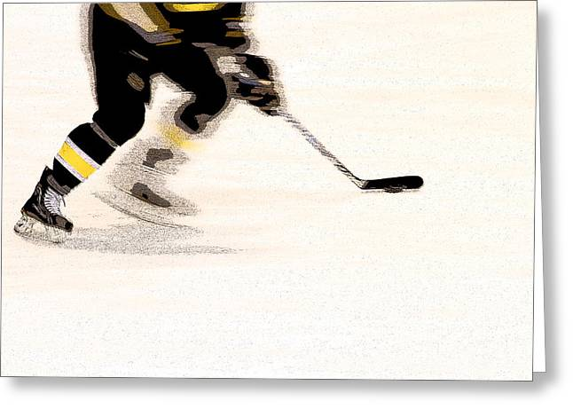 Hockey Art Greeting Cards - Playing The Game Greeting Card by Karol  Livote