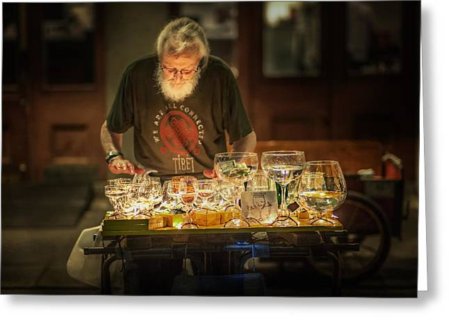 Brenda Bryant Photography Greeting Cards - Playing the Glasses Greeting Card by Brenda Bryant