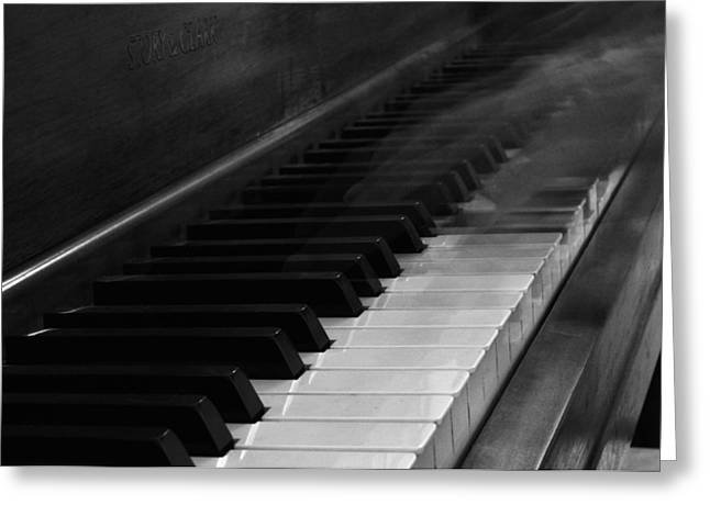 Playing Musical Instruments Greeting Cards - Playing The Piano Greeting Card by Dan Sproul