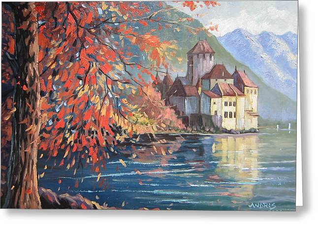 Chillon Greeting Cards - Playing with colours Greeting Card by Andrei Attila Mezei