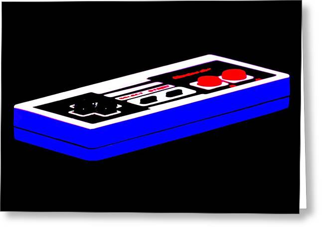 Vintage Nintendo Game Greeting Cards - Playing With Power Greeting Card by Benjamin Yeager
