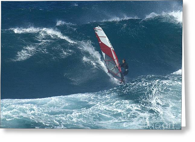 Surfing Photos Greeting Cards - Playing With The Wind Greeting Card by Bob Christopher