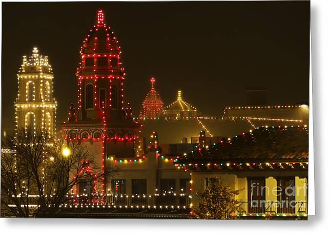 Kansas City Greeting Cards - Plaza Christmas Lights Greeting Card by Dennis Hedberg