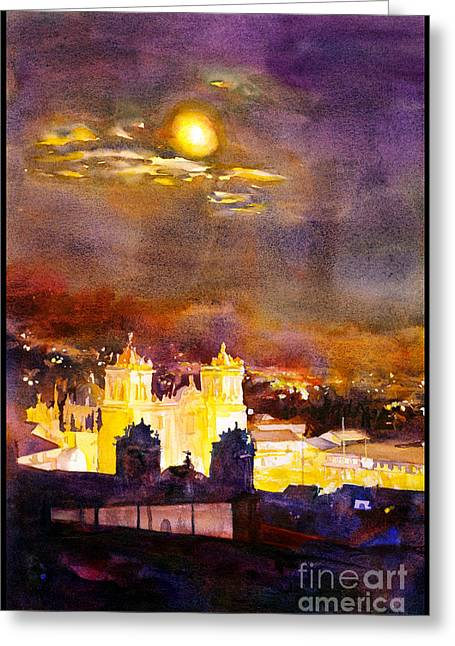 Night Scenes Greeting Cards - Plaza de Armas- Cusco Greeting Card by Ryan Fox