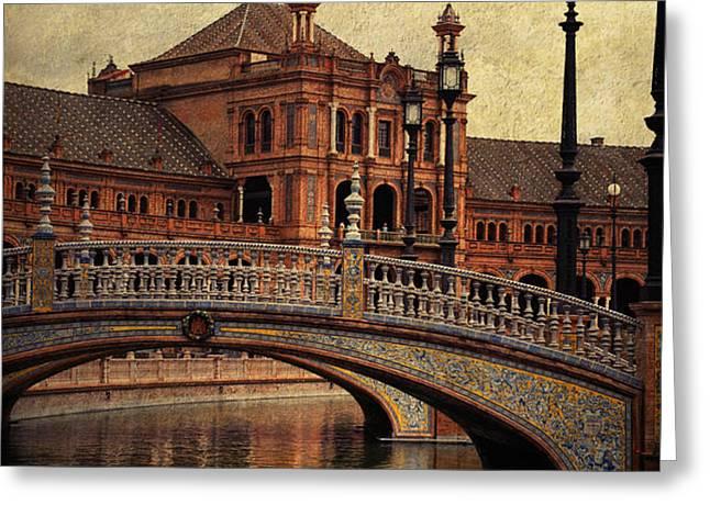 Plaza de Espana 5. Seville Greeting Card by Jenny Rainbow