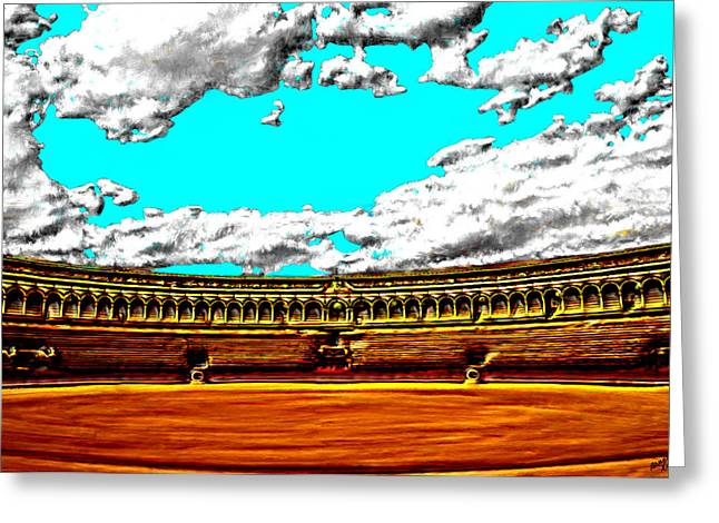 Plaza De Toros Greeting Card by Bruce Nutting