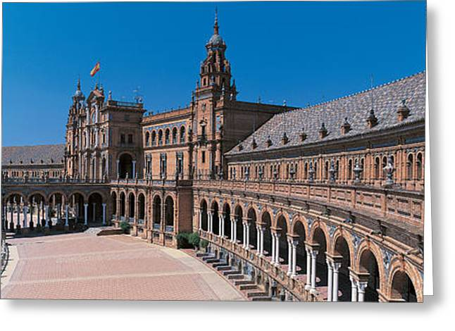 Andalucia Greeting Cards - Plaza Espana Seville Andalucia Spain Greeting Card by Panoramic Images