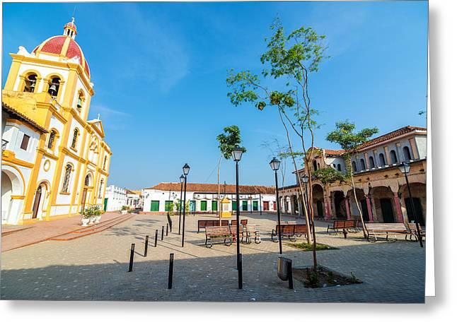 Plaza in Mompox Greeting Card by Jess Kraft