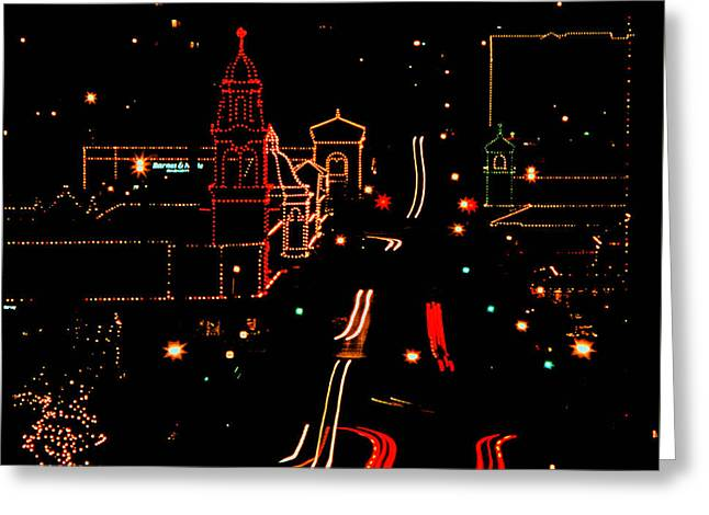 Plaza Lights 1978 Greeting Card by Thomas Bomstad
