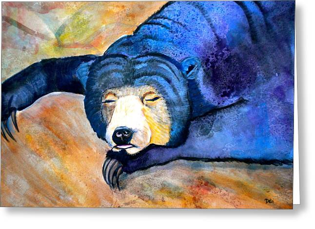 Storybook Mixed Media Greeting Cards - Pleasant Dreams Greeting Card by Debi Starr