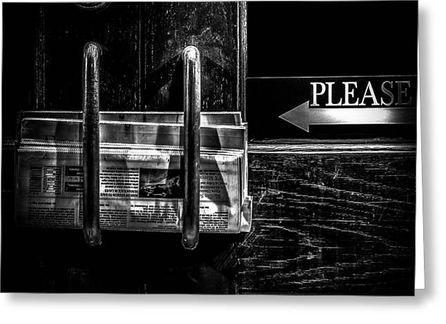 Please Greeting Card by Bob Orsillo