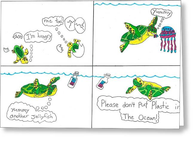 ; Maui Drawings Greeting Cards - Please dont kill Turtles Greeting Card by Jay or Jaz Kelber