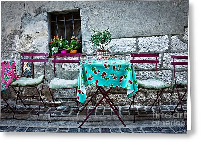 Please Have A Seat Greeting Card by Delphimages Photo Creations