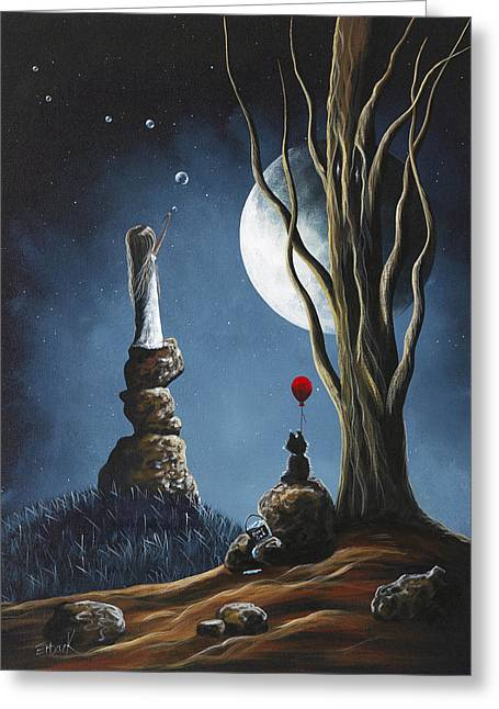 Creepy Paintings Greeting Cards - Please Tell Him We Still Miss Him by Shawna Erback Greeting Card by Shawna Erback