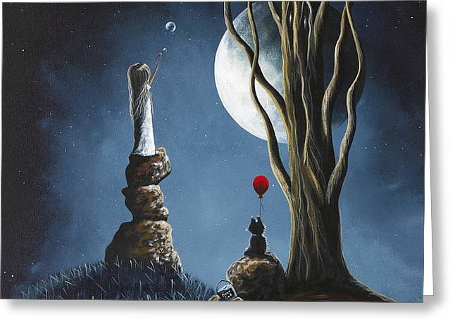 Low Wall Greeting Cards - Surreal Art Print by Shawna Erback Greeting Card by Shawna Erback