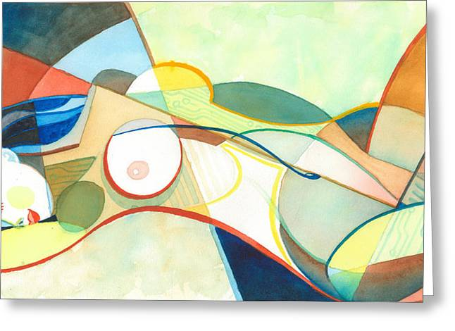 Recently Sold -  - Geometric Shape Greeting Cards - Pleasure Greeting Card by David Ralph