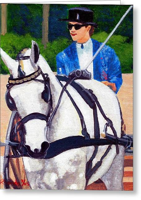 Pleasure Driving Greeting Cards - Pleasure Driving Quarter Horse Greeting Card by Olde Time  Mercantile