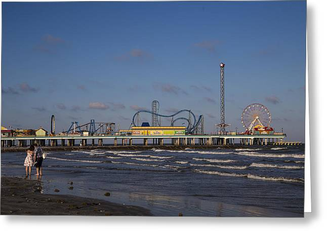 Pleasure Pier At Sunset Greeting Card by John McGraw