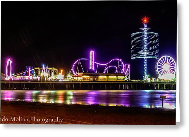Galveston Photographs Greeting Cards - Pleasure Pier Greeting Card by Dado Molina