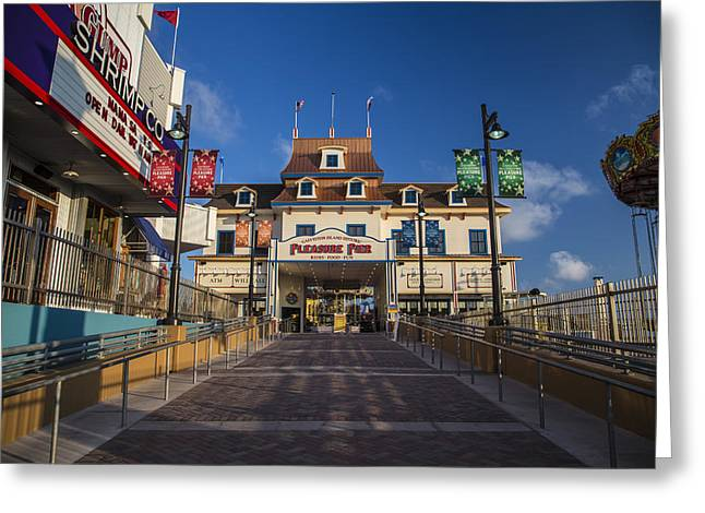 Pleasure Pier Entrance Greeting Card by John McGraw