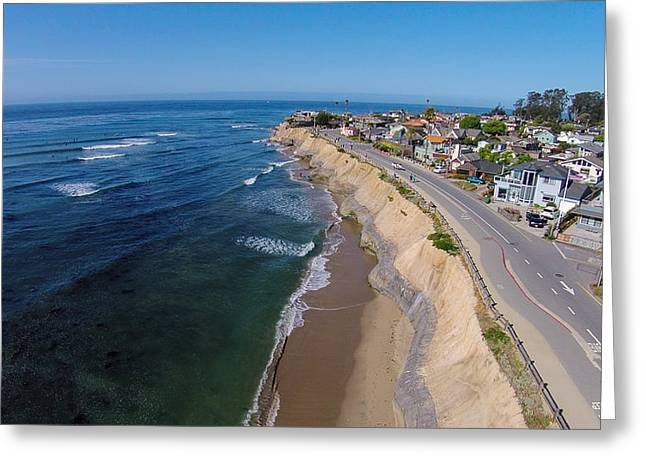 Santa Cruz Surfing Greeting Cards - Pleasure Point Greeting Card by David Levy