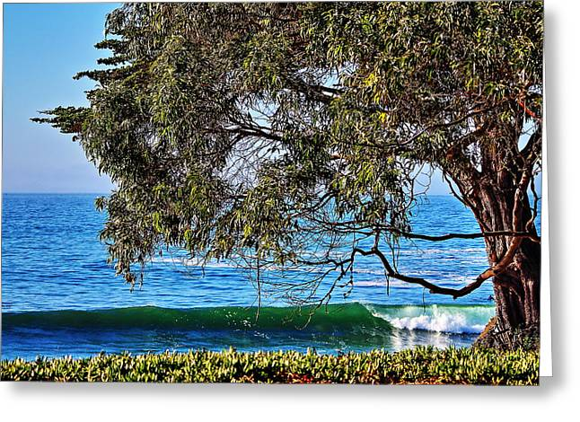 Surfing In Santa Cruz Greeting Cards - Pleasure Point Santa Cruz Greeting Card by Richard Cheski