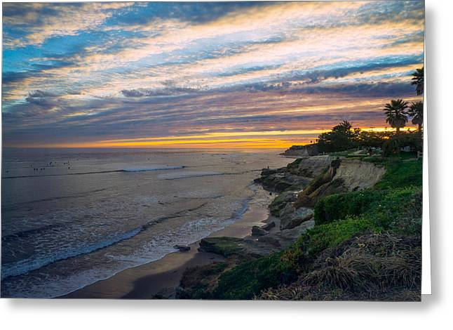 Santa Cruz Surfing Greeting Cards - Pleasure Point Sky Greeting Card by Diana Weir
