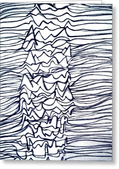 Division Drawings Greeting Cards - Pleasures Unknown Greeting Card by Barbara Giordano