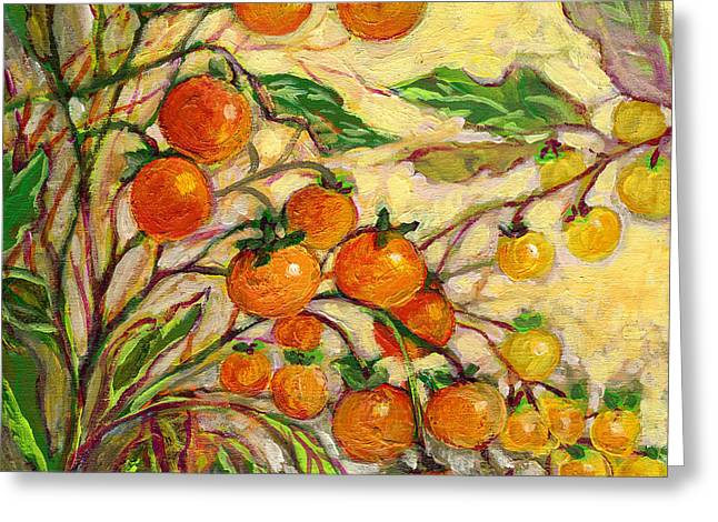 Tomatoes Greeting Cards - Plein Air Garden Series No 15 Greeting Card by Jennifer Lommers